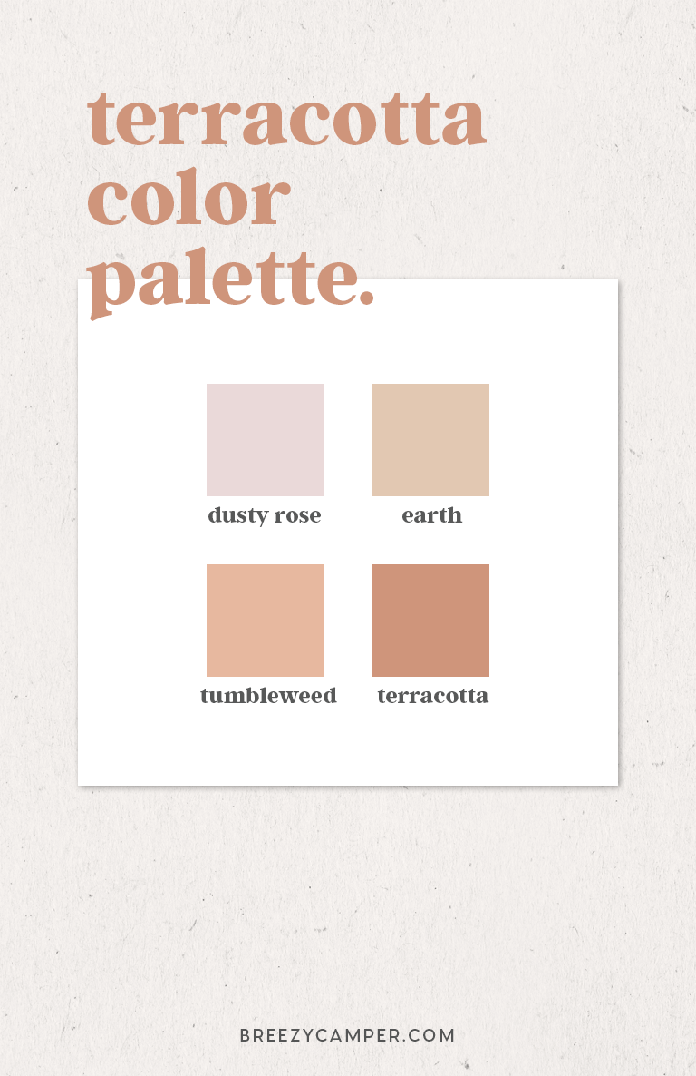 Terracotta Color Palette -brand color inspiration - Breezy Camper