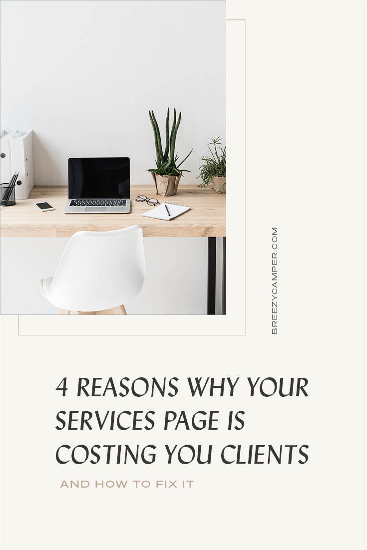 Is your services page holding you back? You know your website copy is important but is it important on your services page too? Oftentimes I see businesses neglecting their services page because they don't know how to write the copy or can't be bothered with the layout or design. Here are 4 reasons you should stop neglecting your Services Page today!